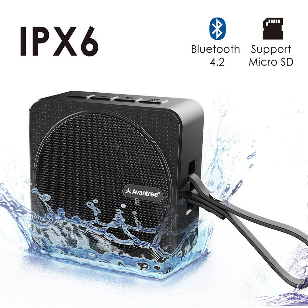 Avantree Quality Waterproof Bluetooth Shower Speaker