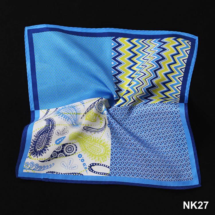 NK27 HN12B Blue Navy Herringbone Paisley Dot (5)