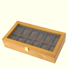 YA 12 Slots Wood Watch Box Case Retro European Mechanical Watch Storage Cases Wooden Men's Watch And Jewelry Gift Boxes W040