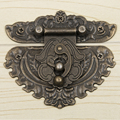 10pcs/setVintage Style Jewellery Wooden Box Cabinet Suitcase Lock Hook Lid Latch Bronze Tone furniture accessories