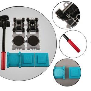 Image 2 - 8 قطعة أداة المحرك الأثاث استخدام تتحرك الأسطوانة مجموعة المتزلجون سهلة رافع المنزل النقل للإزالة 360 درجة تدوير