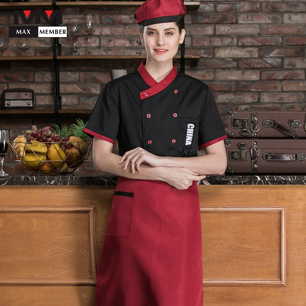 Hot Sale High Quality Summer Short Sleeve Chefs Uniform Breathable New Waiter Cheap Workwear Kitchen Unisex Hotel Cook Clothing