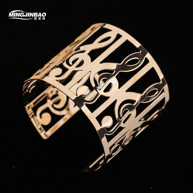 Fashion Music Bracelets For Women Bracelet Arm Cuff Adjule Gold Color