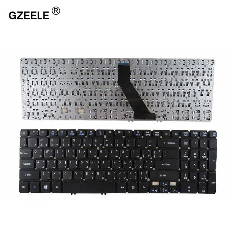 GZEELE Arabic laptop Keyboard for acer V5-571PG V5-531P V5-531 V5-551 M3-581G M3-581PTG MS2361 AR black
