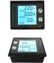Moniteur de tension numérique LCD, voltmètre, ampèremètre, watt, 80-260v, 110v, 220v
