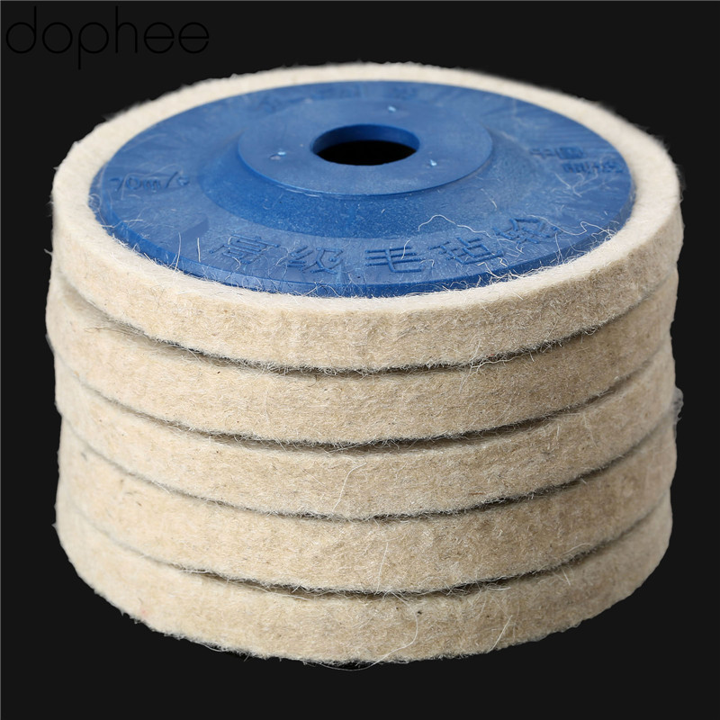 Image 5 - dophee 100mm Wool Polishing Wheel Buffing Pads Angle Grinder Wheel Felt Polishing Disc for Metal Marble Glass Ceramics 1PC-in Abrasive Tools from Tools
