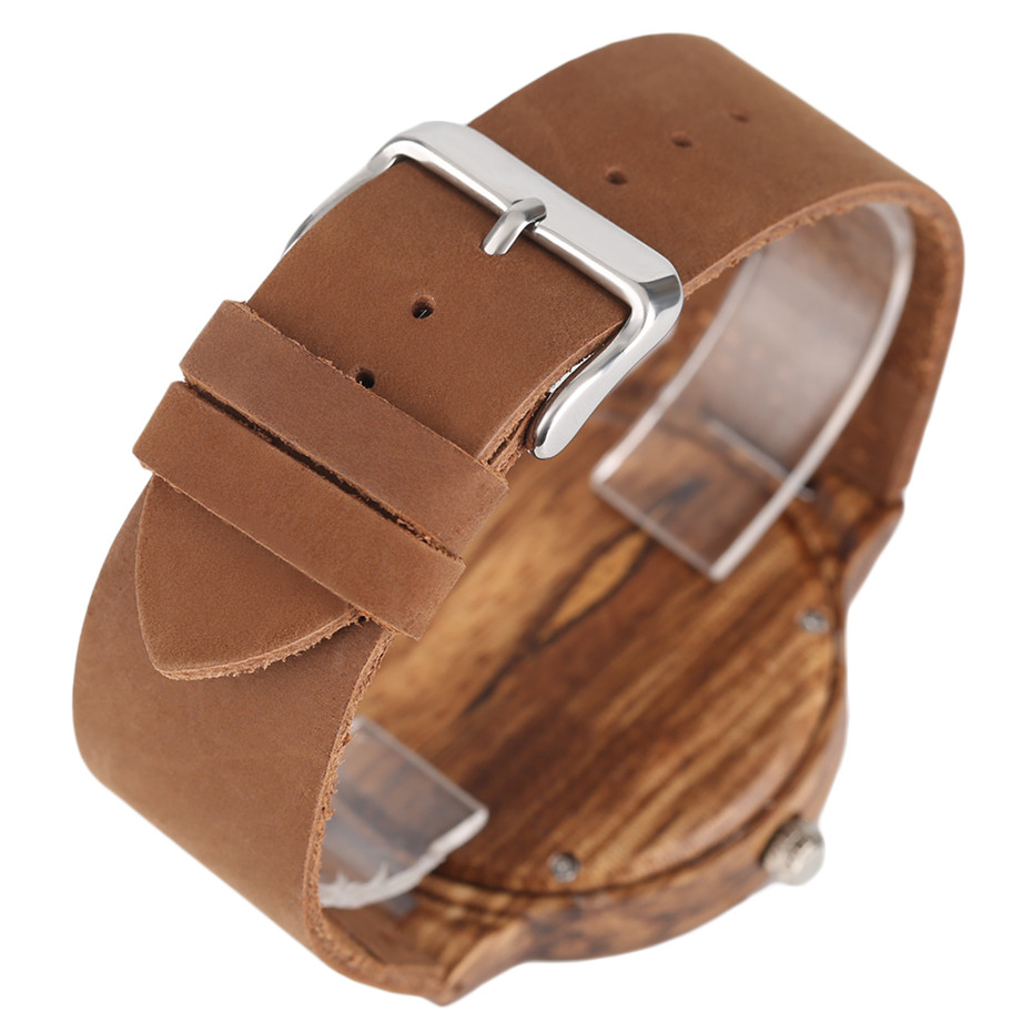 Creative Shiny Weave Bamboo Wood Watch Nature Analog Quartz Cool Men Wristwatch Women Leather Strap Bracelet Handmade Clock Gift Fashion (6)