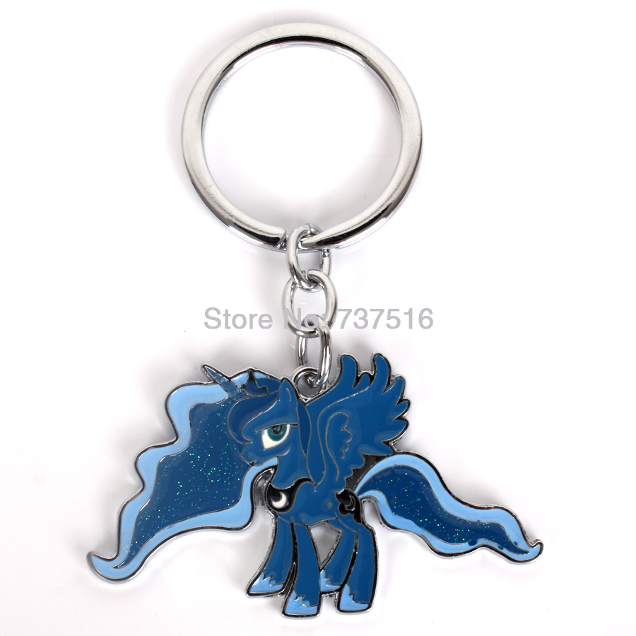 New Animation Friendship Flying Unicorn Blue Is Magic Princess Luna Moon Horse Movies & TV Gifts Metal Products