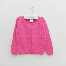 children's clothing girls sweaters colorful balls long sleeve cotton baby girl cardigan sweaters for girls kids outerwear top