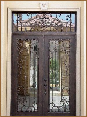 Classical Double Wrought Iron Doors Interior Doors Decor SAT 0129