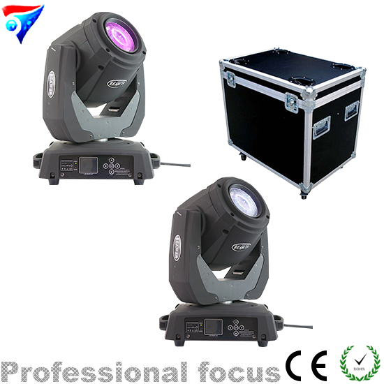 Free Shipping 2pcs/Lot Flight Case Packing Sharpy 120W Beam 2R Moving Head Light Professional Stage Light For Christmas Party free shipping 6pcs lot 120w moving head light sharpy beam 2r led lights dj disco club party wedding stage effect