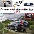 3 in1 Специальный Вид Сзади Камеры Wifi + Беспроводной Приемник + Зеркало Монитор Легко DIY Парковочная Система Для Volvo XC90