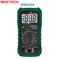 Digital Multimeter MASTECH MS8239A DMM AC DC Voltmeter DC Ammeter Ohmmeter W Battery Current Resistance Tester