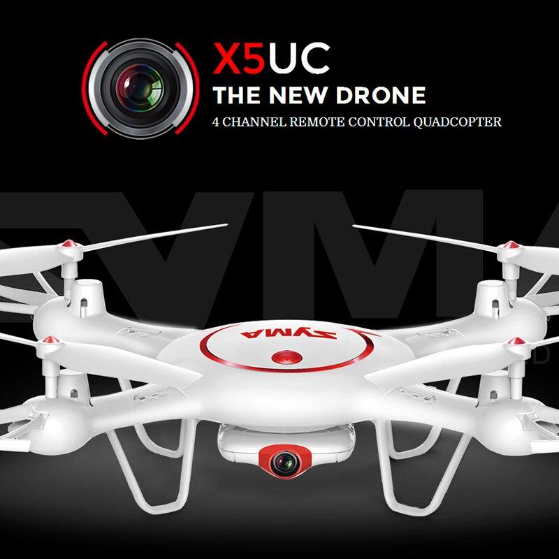 Quadcopter syma x5uc (x5c actualizado) rc 2.4g 4ch función activable 2.0mp hd cá