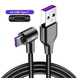 Кабель USB Type C 5A для Huawei P30 Lite P20 Pro, кабель USB C для быстрой зарядки и синхронизации данных для Samsung S10 S9, супер зарядное устройство USBC, шнур Кабели для мобильных телефонов      АлиЭкспресс