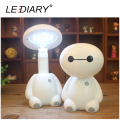 LEDIARY Lovely LED Rechargeable Baymax Desk Lamp Flexible Length 12LED 220V Modern Reading Lamp for Student Eye Protection