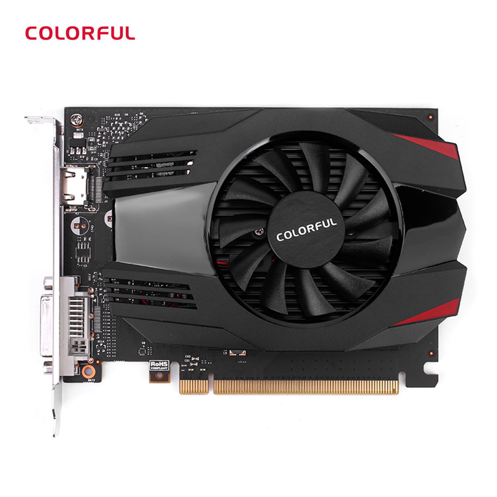 Colorful NVIDIA GeForce GT 1030 2G GDDR5 1227MHz 14nm 64bit Video Graphics Card PCI-E 3.0 X16 DVI HDMI Interface 30W Power
