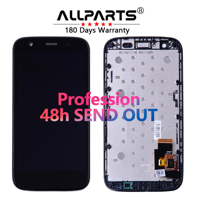Wholesale Warranty 4.5 Phone Module For Motorola Moto G LCD Display Touch Screen Digitizer Frame Repalcement Parts XT1032 XT1033