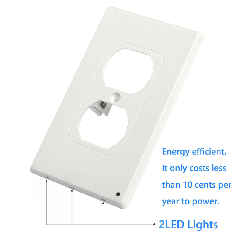 Image 3 - Kohree 5pcs Wall Outlet Cover Plate with LED Night Lights, Safety Light Sensor Plug Cover plate Socket Switch Cover for Hallway-in Night Lights from Lights & Lighting