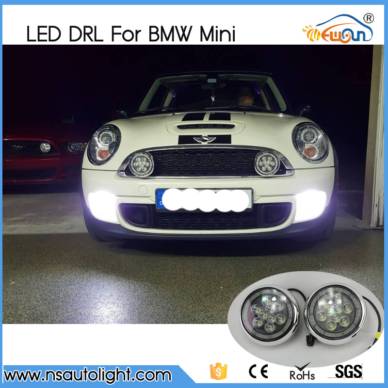 car-styling 18W Daylight guide design LED Daytime Running fog lights/ Rally light for All Mini cars For cooper/countryman