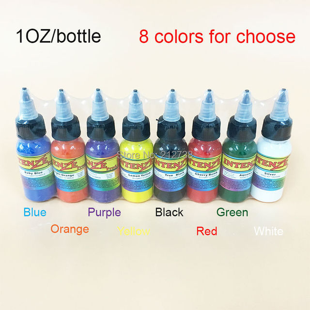 Free Shipping 5 Bottles Professional Tattoo Ink 30ml/ 1oz / 30g ...