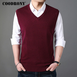 Image 3 - COODRONY Classic V Neck Sleeveless Vest Men Cashmere Wool Sweater Men Clothes 2018 Autumn Winter Business Casual Pull Homme 8145