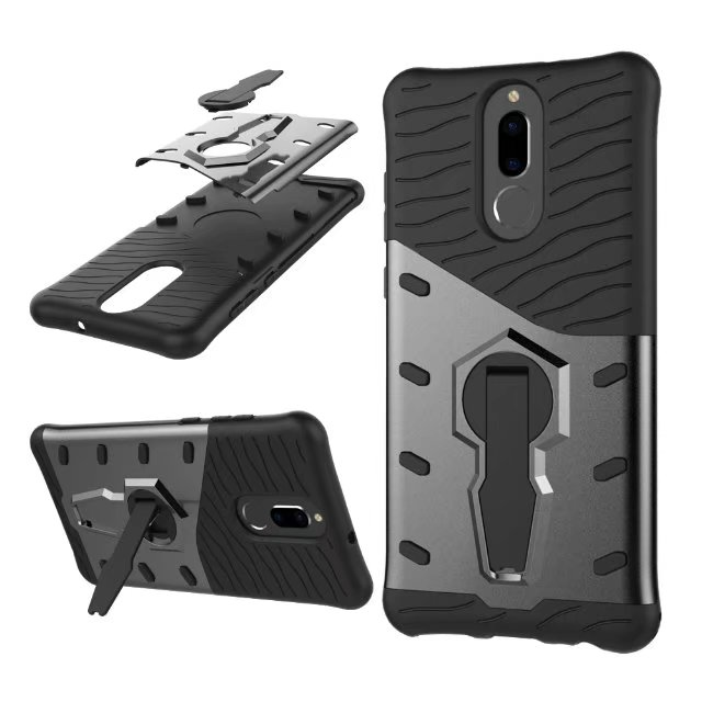 new product d0c31 b921b US $2.84 20% OFF|For Huawei Mate 10 Lite CASE Shockproof Rugged Armor  Hybrid Case 360 Stand Cover for huawei honor 9i Nova 2i-in Half-wrapped  Case ...