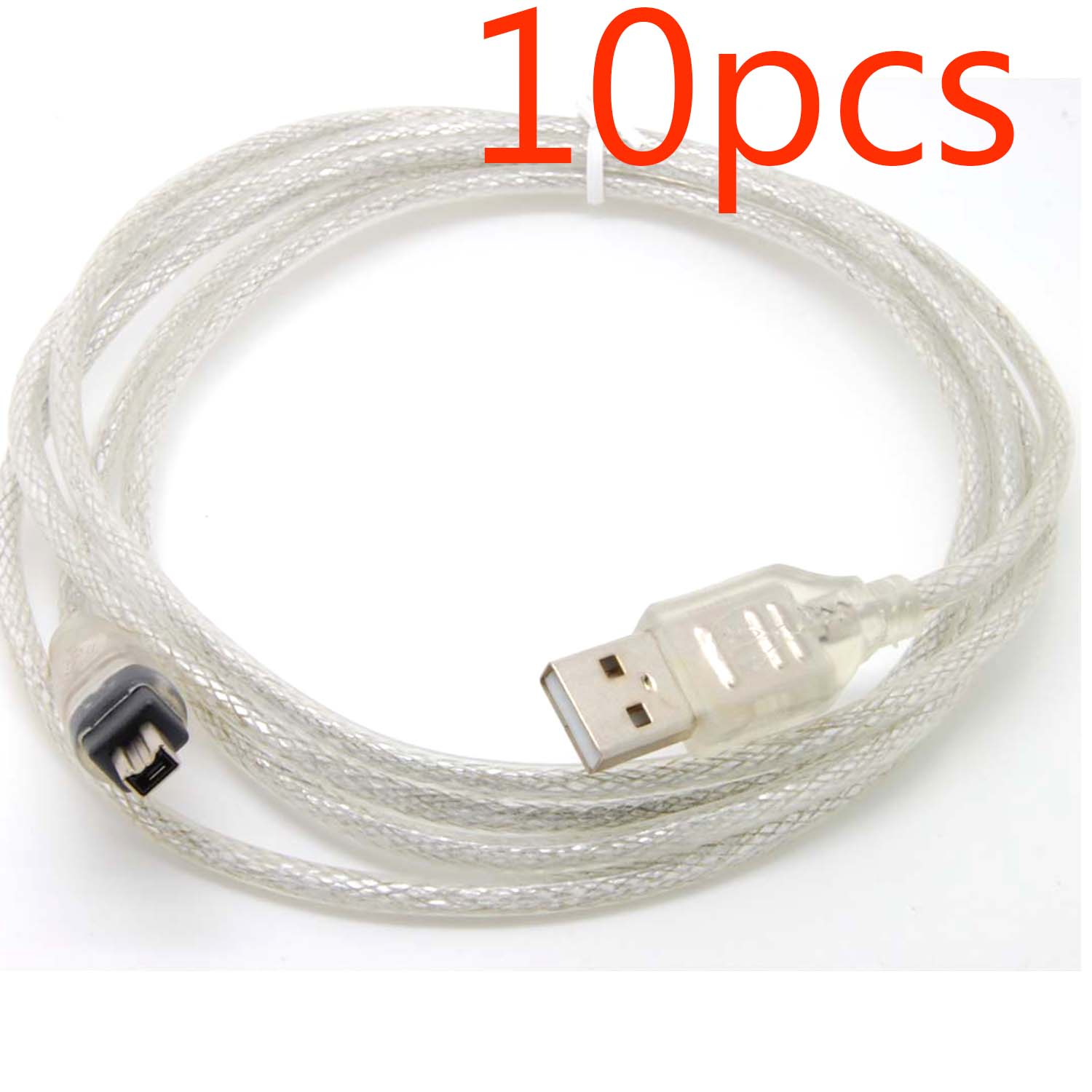 10pcs USB Data cable 4pin Firewire IEEE 1394 for MINI DV HDV camcorder edit pc