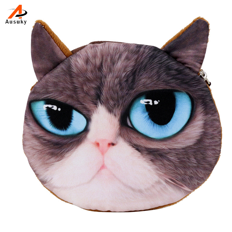 Coin Purse  Catalog Animal 3D Printed Pattern New Unusual Dog Purse Factory Wholesale Pug Fabric Pouch Children's Purse 30 s s catalog seniors