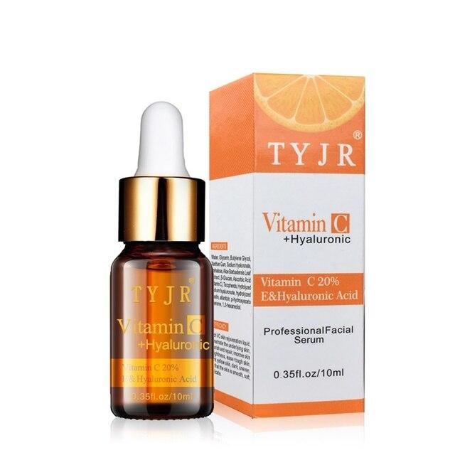 Vitamina C suero VC removedor de manchas oscuras pecas se desvanecen cuidado de la piel que blanquea la cara Anti Winkles esencia belleza