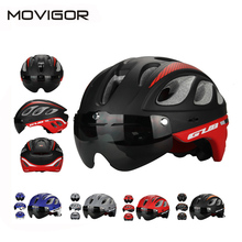 Movigor MTB Road Racing Bike Helmet With Goggles Eyewear Integrally Molded ESP+PC Aero Cycling Bicycle Helmet & Glasses 4 Colors