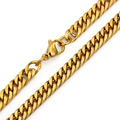 New Mens Jewelry 6mm/8mm/ Stainless Steel Gold Plated Curb Cuban Link Chain Necklace Or Bracelet 18inch-36inch Free Choose
