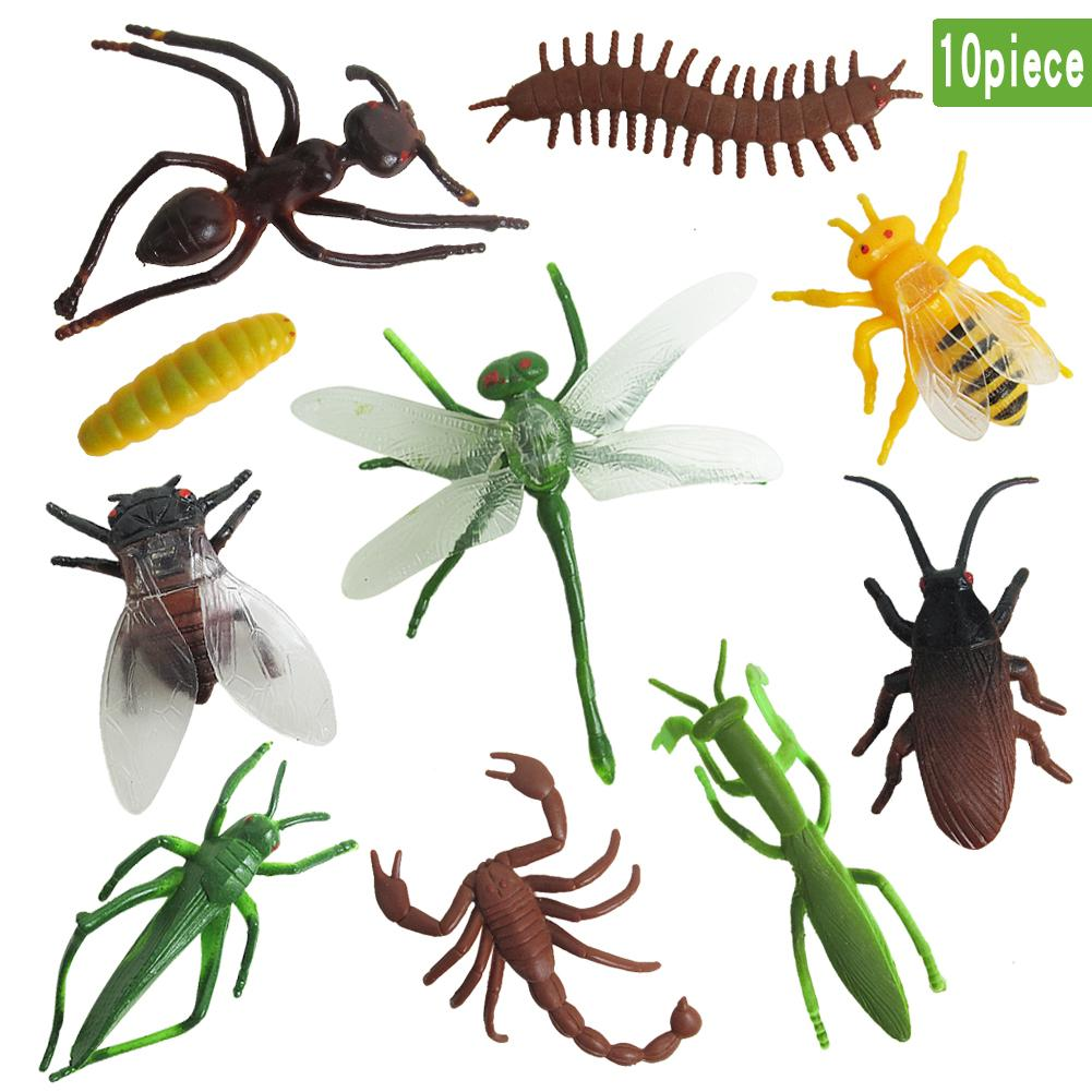 10Pcs Kids Dragonfly Centipede Artificial Insect Model Toy Science Toy Play Cognitive Toys Ornaments Toys For Children