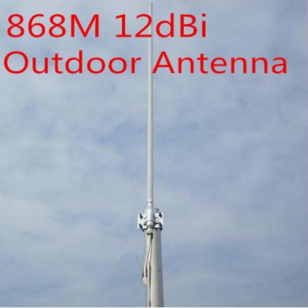 868 MHz antenne haute gain12dBi 868 MHz en fiber de verre omni antenne 868 MHz extérieure toit planeur moniteur antenne 868 M en fiber de verre antenne