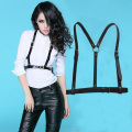 Dark Rock street strap Leather Harness Body Waist Belt Straps Adjustable Buckle Belt Garter Belt leather Suspenders