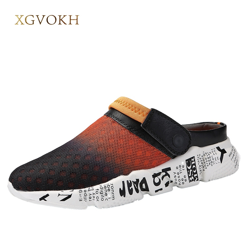 купить New Men outdoor Sandals Summer Breathable Light Mesh Shoes Leisure Fashion Hollow Slippers Casual Loafers Zapatos Plus Size по цене 879.21 рублей