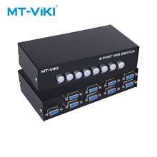 цены MT-VIKI 8 Port VGA Switch without USB 8 Input 1 Output VGA Video Selector 8 Computers Share One Monitor Maituo MT-15-8H
