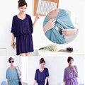 Mamalove verão moda roupa de maternidade estilo modal vestido de maternidade vestidos para mulheres grávidas casual amamentação roupas de enfermagem