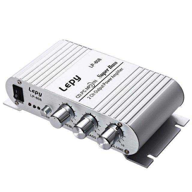 LP-808 Lepy 12 V MINI Amplificador HIFI Super Bass Speaker portátil Altifalantes Suporte de Controle De Volume Para O Telefone Móvel MP3 PC