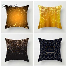 Fuwatacchi Shining Golden Style Cushion Cover Deer Love Dot Floral Printed Pillow Cover Striped Decorative Pillows For Sofa Car