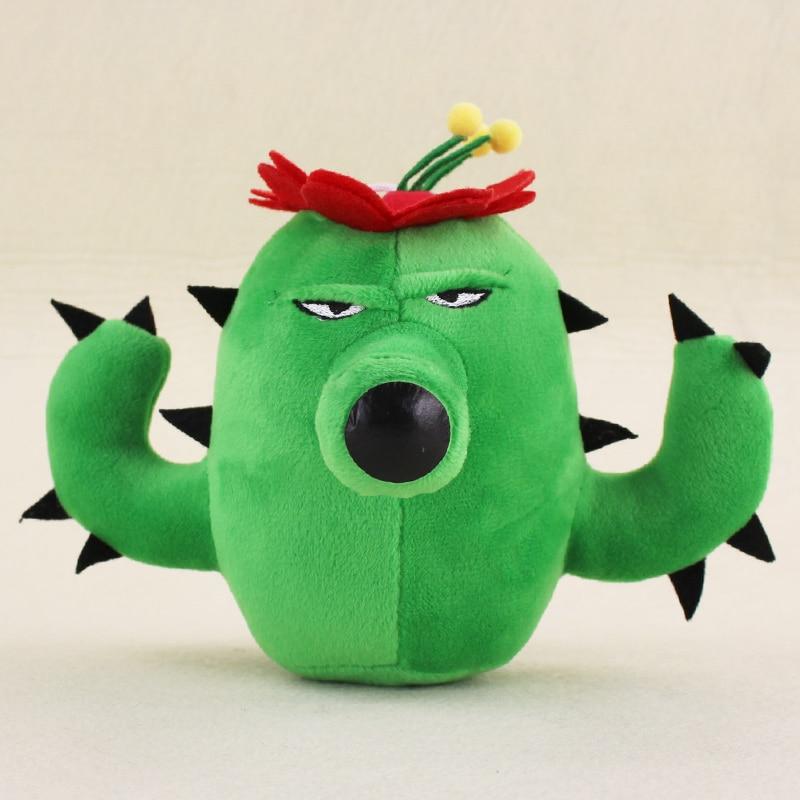 13cm Plants Vs Zombies Soft Plush Toy Doll Pvz Cactus Plush Sucker Pendant Stuffed Doll In