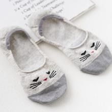 Yfashion Women Stylish Cartoon Animal Pattern Low-cut Socks Silicon-sole Anti-slip Boat 1 Pair High Quality Sock