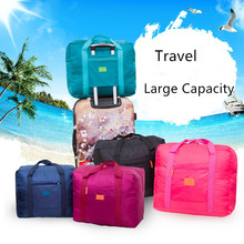 FASOTY Korean-Style Foldable Aircraft Package Waterproof Storage Bag Large Capacity Travel Creative Nylon Hand Luggage