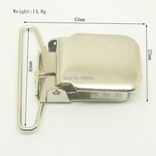 20 штук в партии никелевый квадратный металлический зажим для чулок с 40 мм