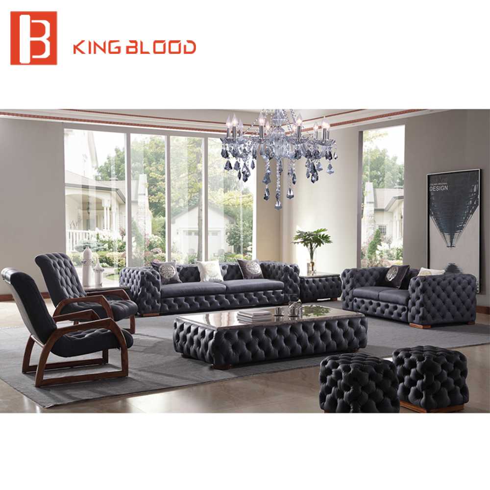 US $5968.0 |Modern italian living room sofas tufted genuine leather sofa-in  Living Room Chairs from Furniture on AliExpress