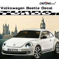 car sticker decal dual racing vinly stripe sticker decal graphic for VW BEETLE