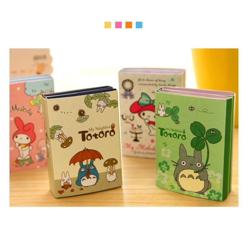 4 pcs/Lot Totoro & Melody memo pad Kawaii sticky note Folding post sticker Stationery office accessories School supplies F355