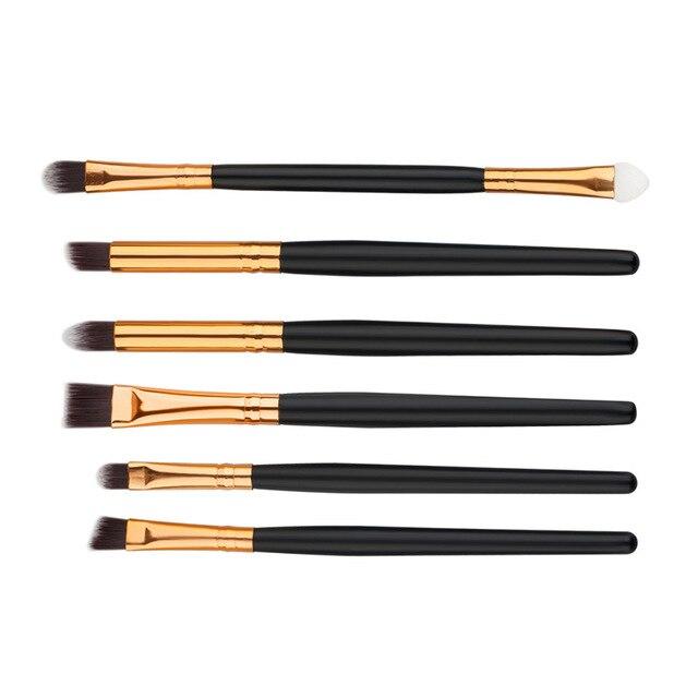 6 PCS Professional Makeup Cosmetics Brushes Eye Shadows Eyeliner Brush Tool Set Kit  SK88 1