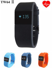 Original TW64 2 & TW 64S Smart Band Waterproof Bluetooth Pedometer Sleep Monitor Fitness Heart rate monitor for Cellphone