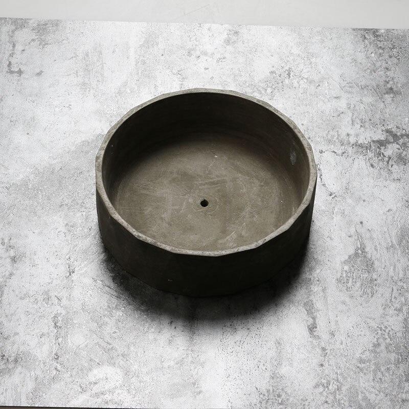 Ronde pot de fleur silicone moules À La Main pot en béton moules moules À Béton Personnalisation Acceptable
